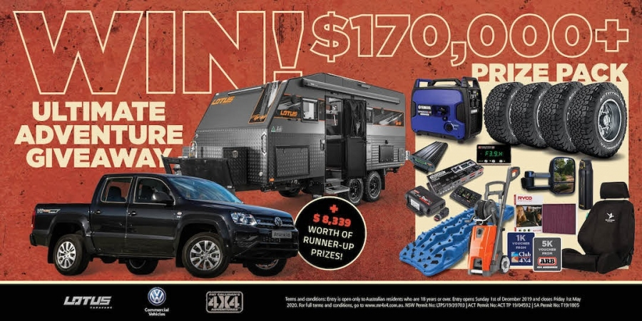 Win a Lotus Off Grid Family Caravan + VW Amarok 4x4 & Camping/Offroad Vouchers & Accessories or 1 of 4 x 4x4 Runner Up Prizes