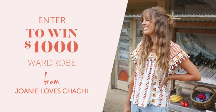 Win a $1000 Joanie Loves ChaChi Wardrobe