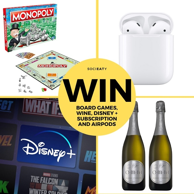 Win Apple Airpods, 1 Year Disney+ Subscription, 2 Bottles of Champagne & a Board Game