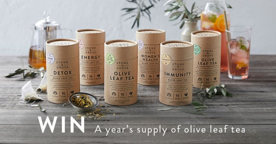 Win a Year's Supply of Olive Leaf Wellness Teas