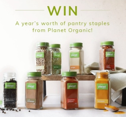 Win $500 of Planet Organic Pantry Essentials (spices, coffee, tea etc.)