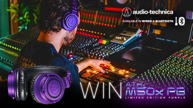 Win 1 of 2 Limited Edition Purple Sets of Audio Technica Studio Headphones