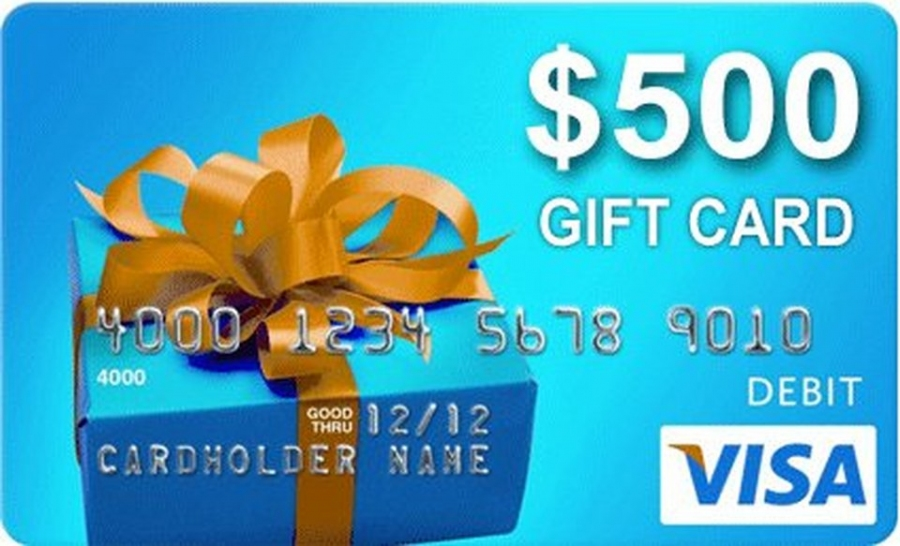 Win 1 of 20 x $500 Pre-paid VISA Gift Cards