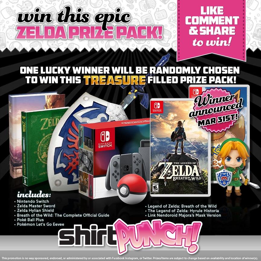 Win a Nintendo Switch Console + 'Zelda' & 'Pokemon' Games & Merchandise