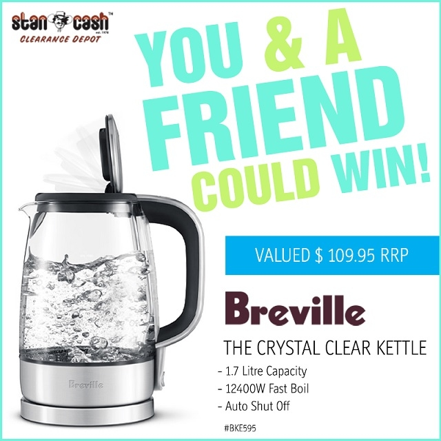 Win a Breville Crystal Clear Kettle for you and one for a friend