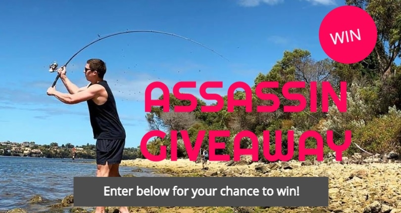 Win an Assassin Tackle Fishing Package (Rod & Reel + Lures)
