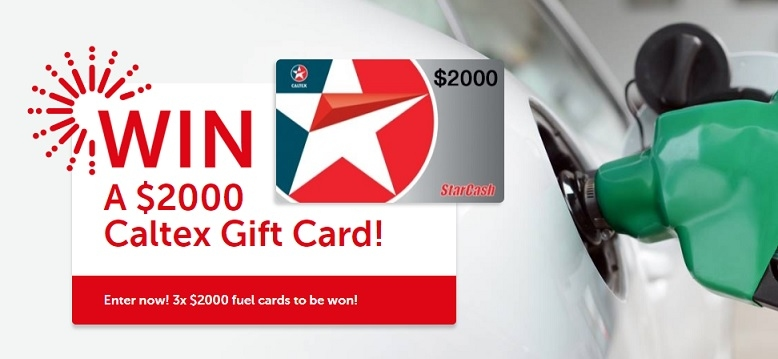 Win 1 of 3 x $2000 Caltex Gift Cards