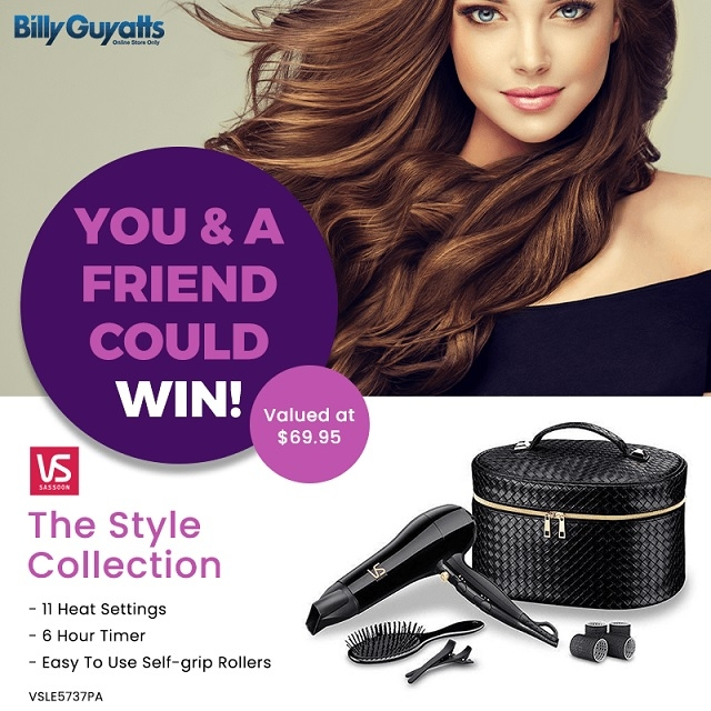 Win a Hair Dryer & Styling Pack for you + one for a friend