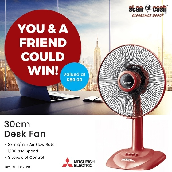 Win a Mitsubishi Desk Fan for you + one for a friend