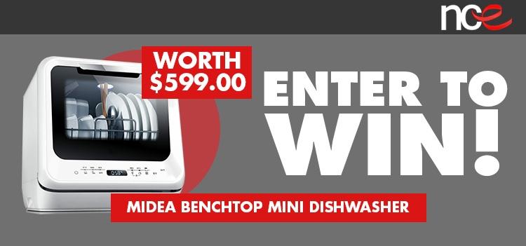 Win a Portable Benchtop Mini Dishwasher