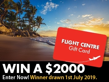 Win a $2000 Flight Centre (Travel & Accommodation) Gift Card