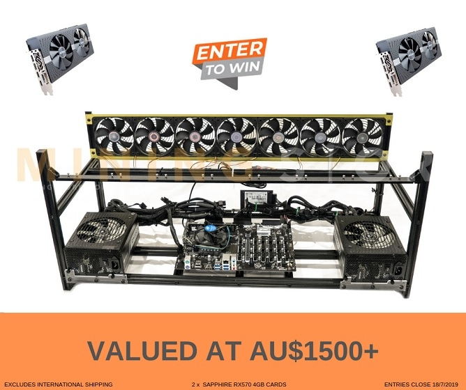Win a Cryptocurrency Mining Rig with 2 x 4GB Graphics Cards