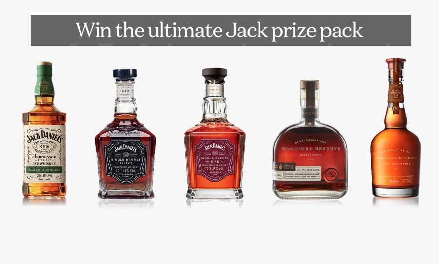 Win 5 Bottles of Various Jack Daniel's & Woodford Reserve Whiskey