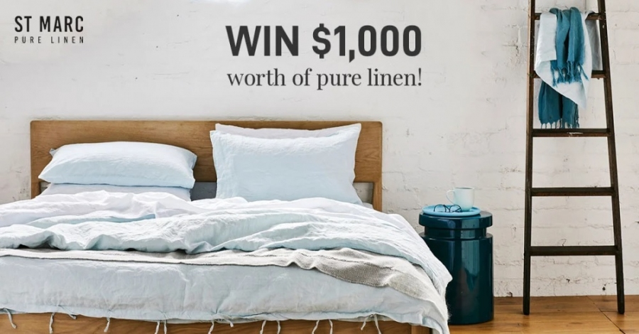 Win a $1000 St Marc (Linen Bedding & Clothes) Voucher
