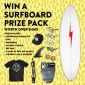 Win a Surfboard & Accessories + SIN Sunnies & Apparel or 1 of 5 runner-up prizes of Sunnies, Cap & Tee