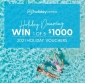 Win 1 of 5 x $1000 My Holiday Centre Travel Vouchers
