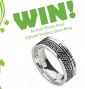 Win a Sterling Silver Trinity Knot Irish Ogham Ring