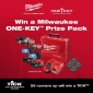 Win a Milwaukee ONE-KEY™ Prize Pack or 1 of 25 TICK™ Equipment Trackers
