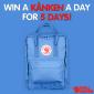 Win 1 of 5 Kånken backpacks (daily draws)