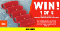 Win 1 of 5 JBL Charge 3 Portable Bluetooth Speakers