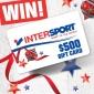 Win a $500 INTERSPORT Australia Gift Card