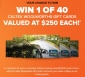 Win 40 x $250 Caltex Fuel Cards