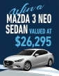 Win a Mazda 3 Neo Sedan
