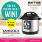 Win a Kambrook Pressure Express Digital Multi Cooker for you and a friend