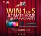 Win 1 of 5 LG Home Entertainment Packages