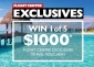 Win 1 of 5 x $1000 Flight Centre Exclusives Travel Vouchers