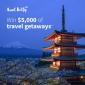 Win a $5000 Aunt Betty Travel Voucher
