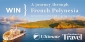 Win a 12-night French Polynesian Cruise for 2 people (return Tahiti flights ex. SYD, MEL, BNE only)