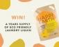 Win 1 of 10 x 1 Year's Supply of Happi Earth Laundry Liquid