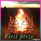 Win a Lotus Leaf Shaped Fire Pit OR Small Fire Pit with bag OR a Personalised Monogram Sign