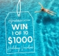 Win 1 of 10 x $1000 My Holiday Centre Vouchers