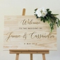 Win a Personalised Engraved Wooden Wedding Welcome Sign